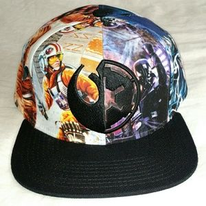 Star Wars - Character Collage Black Brim Snapback